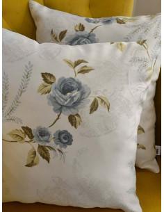 Двулицеви възглавници със сини рози-1