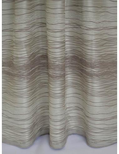 Завеса на хоризонтални линии в слонова кост-1