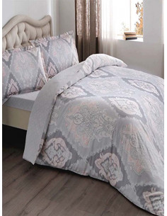 Семеен спален комплект от памучен сатен TAC Vales-1