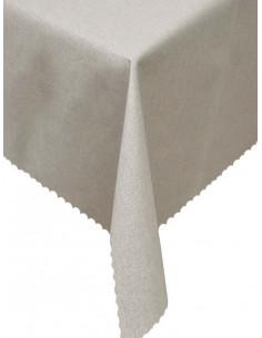 Непромокаема покривка в светло сив цвят с ламе-1
