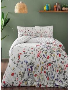 Спален комплект TAC Cherry Ranforce на пъстри цветчета-1