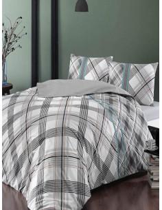 Двоен спален комплект TAC Ranforce Floyd в сив цвят-1