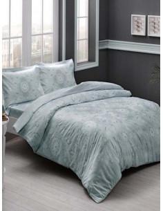 Семеен спален комплект TAC Saten Lucca Mint-1