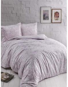 Семеен спален комплект от сатен TAC Castillo Lila-1