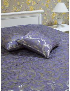 Шалте в лилав цвят на елементи в комплект с две възглавници-1