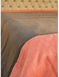 Шалте в кафяв и оранжев цвят-1