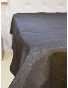 Тъмно кафяво шалте от тафта-1