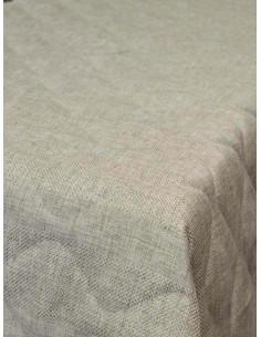 Шалте в натурален цвят с декоративни тигели 180x240см.-1