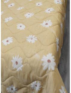Капитонирано шалте в жълт нюанс на цветя-1
