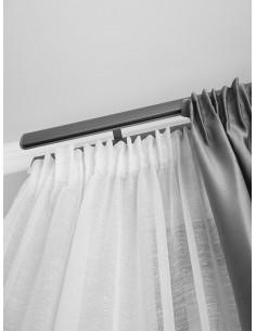 Изчистена прозрачна материя в бял цвят-1