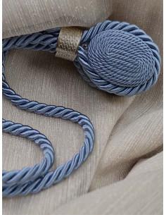 Магнит за перде в син цвят със сребрист детайл-1