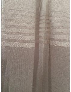 Прозрачна ленена материя за перде в цвят лате-1