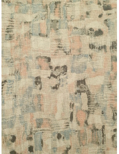 Плат за плътна завеса в слонова кост с цветни фигури-1