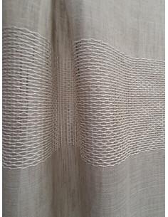 Полупрозрачен плат за перде в цвят капучино-1