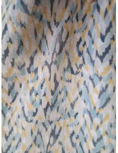 Плат за завеса с шарка зиг заг в жълто-2