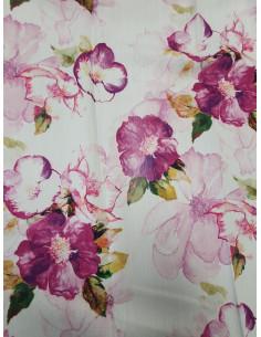 Плат за завеса в лилави цветя-1