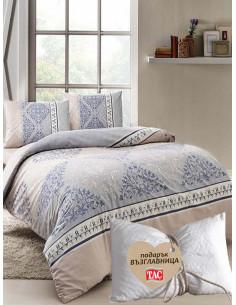 Единичен спален комплект TAC Ranforce Talia + подарък-1
