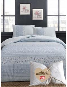 Единичен спален комплект Tac Ranforce Leona + подарък-1