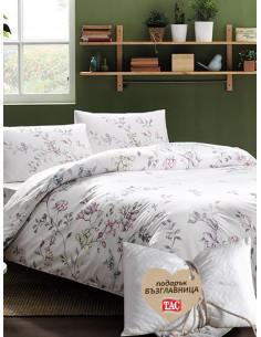 Единичен спален комплект Tac Ranforce Julianne + подарък-1