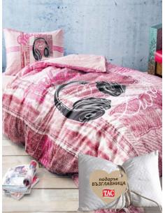 Единичен спален комлект TAC Ranforce Listen + подарък-1