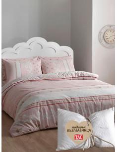 Двоен спален комплект TAC Ranforce Rose + подарък-1