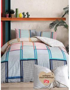 Двоен спален комплект TAC Ranforce Santana + подарък-1