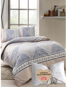 Двоен спален комплект TAC Ranforce Talia + подарък-1