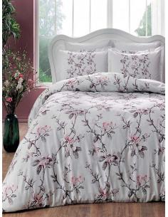 Двоен спален комплект TAC Saten Lotte Pembe-1