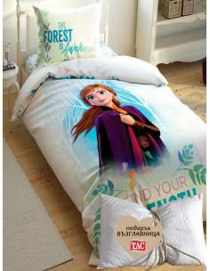 Детски спален комплект TAC Saten Frozen + подарък-1