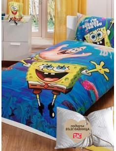 Детски спален комплект Спондж Боб + подарък-1