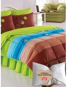 Двоен спален комплект Kristal Ranforce Deniz + подарък-1