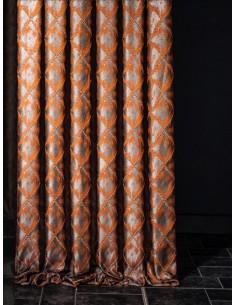 Плътни завеси от сатенена материя на ромбове-1