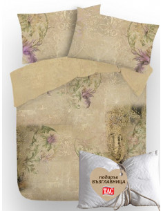 Двоен спален комплект Коприна + подарък-1