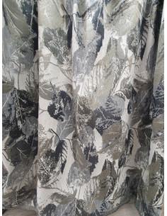Плътна завеса на сиви, кафеникави и черни листа-1