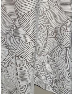 Плътна завеса в сив цвят на едри палмови листа-1