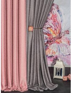 Плътна едноцветна жакардова завеса с лек релеф в различни цветове-1