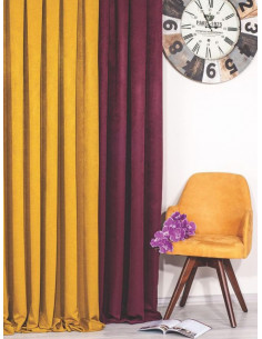 Плътна релефна завеса в изчистени цветове-1