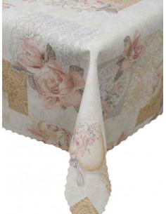 Покривка за маса с тефлоново покритие на цветя-1