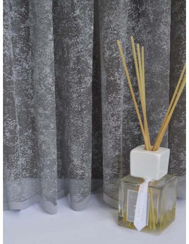 Мрежеста материя за перде в сив цвят-1