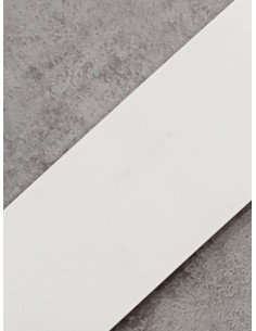 Бленда за ПВЦ релса в цвят бяла75мм-1