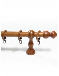 Дървен корниз еднорелсов Ф28 цвят череша-1
