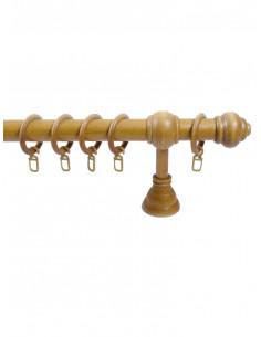Дървен корниз еднорелсов Ф28 цвят дъб-1