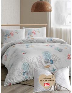 Единичен спален комплект TAC Ranforce Coral + подарък-1