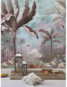 Фототапет ADAWALL AMAZON POSTER с палми и лебеди-1