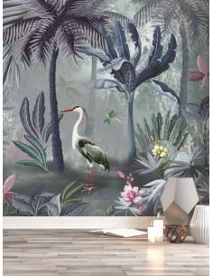 Фототапет ADAWALL с палми и птици-1