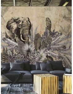 Фототапет ADAWALL AMAZON с папагал и слон-2