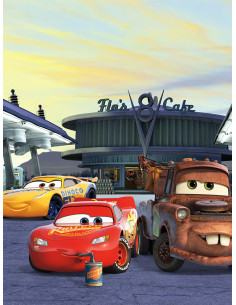 Фототапет Маккуин светкавицата Cars3 Station-1