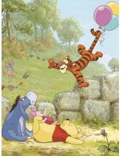 Фототапет Мечо Пух с балони-1