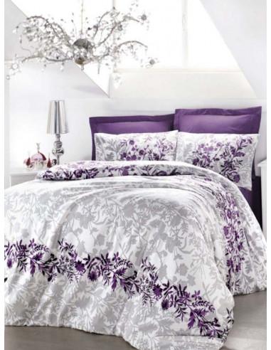 Двоен спален комплект ISSIMO Saten Violetta-1