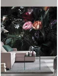 Фототапет натюрморт с лалета и рози-1